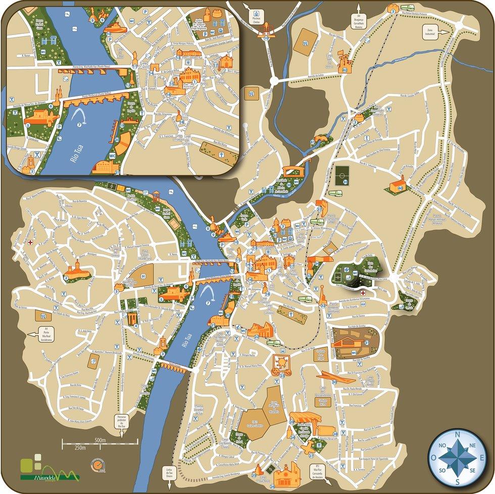 mirandela mapa Mirandela Turismo / Mapa da Cidade mirandela mapa